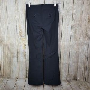 LOFT Zoe Pants Size 4 Black Boot Cut Dress Trouser